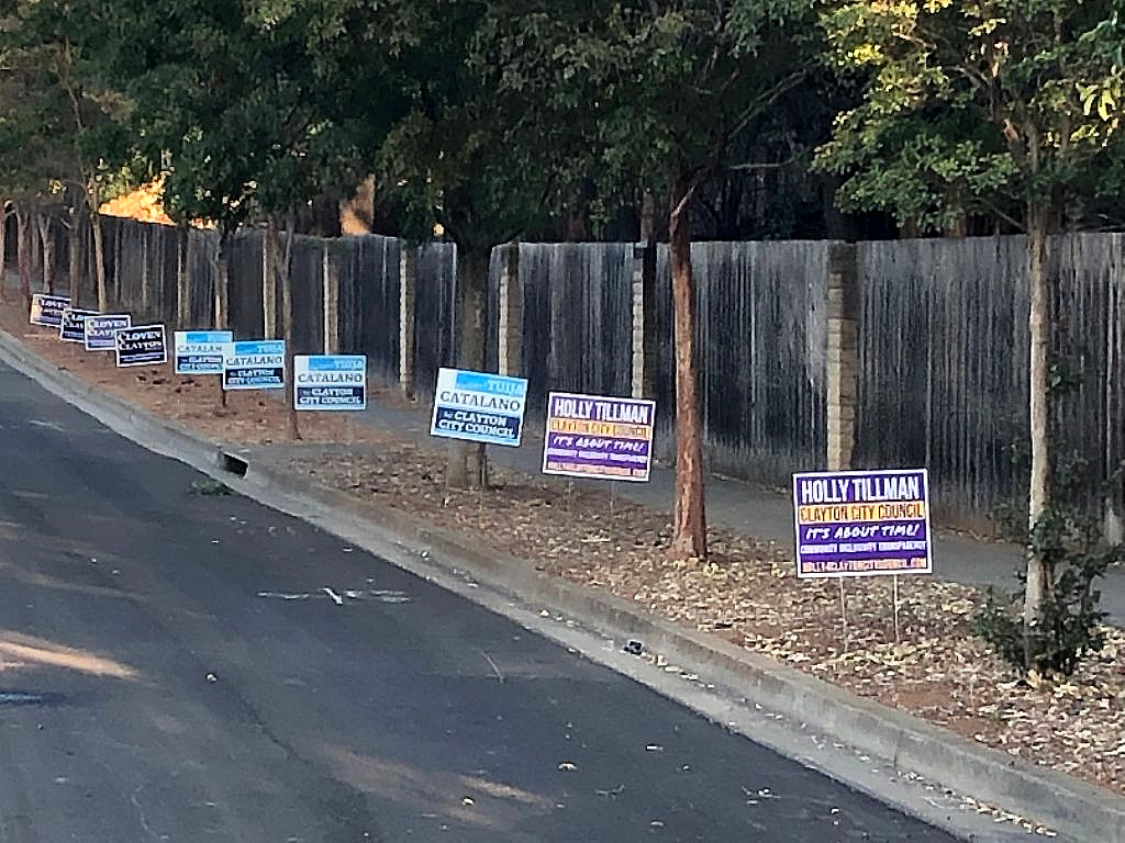 Clayton Campaign Signs